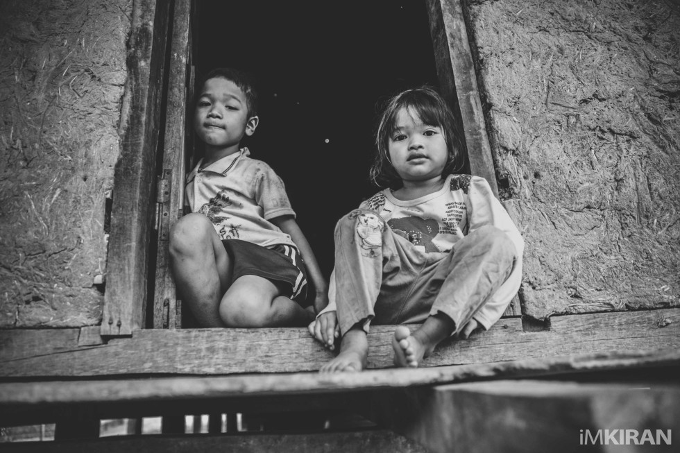 Children living in poverty, Kon Tum, Vietnam